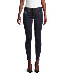 true religion women's jennie big t mid-rise skinny curvy jeans - dark wash - size 28 (4-6)