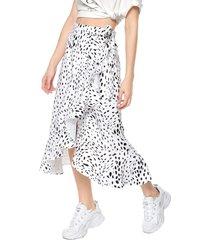 falda blanco-negro glamorous
