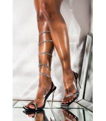 akira cape robbin all blinged out stiletto bling sandal