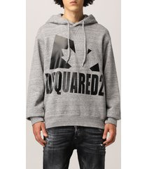 dsquared2 sweatshirt dsquared2 sweatshirt with big logo
