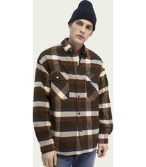 scotch & soda brushed cotton flannel shirt