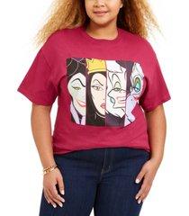 love tribe trendy plus size disney villains t-shirt