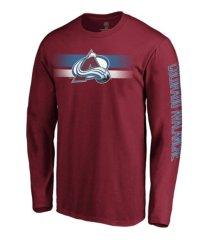 majestic colorado avalanche men's halftone long sleeve t-shirt