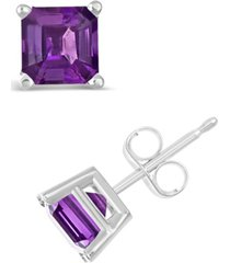 amethyst (1-9/10 ct. t.w.) stud earrings in sterling silver (also available in citrine)