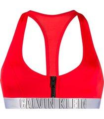 calvin klein bralette bikini top - red