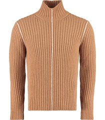 salvatore ferragamo ribbed turtleneck sweater