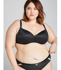lane bryant women's invisible backsmoother lightly lined balconette bra 50d black