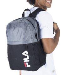 mochila fila ripstop - 22 litros - cinza escuro/preto