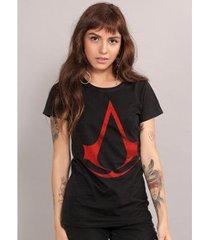 camiseta feminina assassin's creed logo