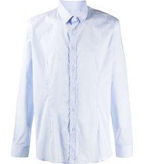 daniele alessandrini buttoned formal shirt - blue