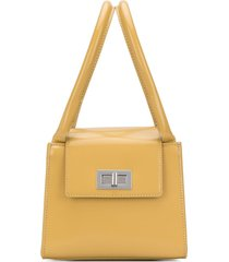 by far turn-lock structured tote - yellow