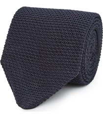 reiss jackson - silk knitted tie in navy, mens