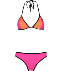 shiwi bikini triangle contrast roze