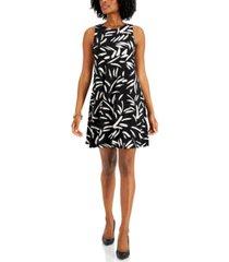 kasper printed dress