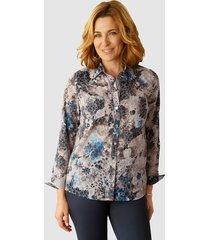 blouse paola grijs::ijsblauw