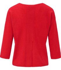 trui van 100% scheerwol met 3/4-mouwen van peter hahn rood