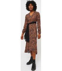 vestido lez a lez marrón - calce ajustado