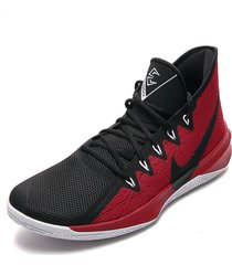 botas basquet nike tenis basketball hombre nike zoom evidence iii-negro con rojo  envio gratis negro