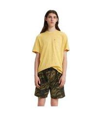camiseta levis ss sunset pocket '20 amarelo