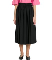 marni gathered waist midi skirt