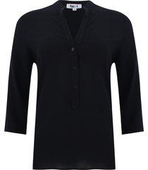 blusa unicolor color negro, talla s