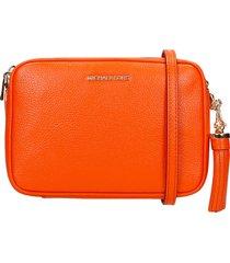 michael kors shoulder bag in orange leather