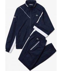lacoste trainingspak men wh2045 sport dissimilar tennis navy blue / white-