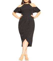 plus size women's city chic love siren midi sheath dress