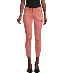 joie women's park skinny twill pants - light mahogany - size 32 (10-12)