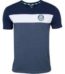 camiseta do palmeiras recorte - masculina - azul