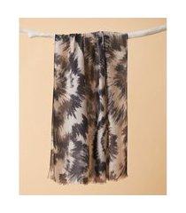lenço estampado - lenço madison cor: preto - tamanho: único