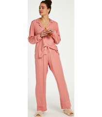 hunkemöller stickade pyjamasbyxor rosa