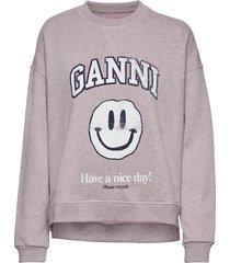 isoli sweat-shirt trui roze ganni