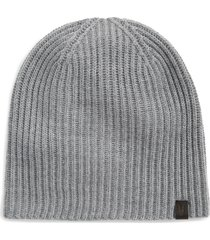 men's allsaints merino wool ribbed beanie - grey
