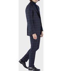 sartorio napoli blue single-breasted suit