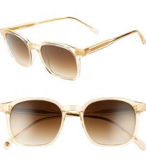 women's brightside dean 51mm square sunglasses - champagne crystal/ brown