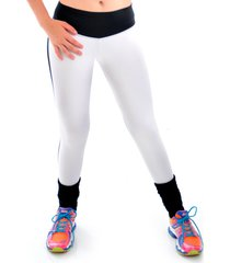 calça mama latina legging suplex e cirre branco-preto