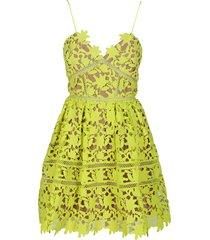 fluo yellow azalea mini dress