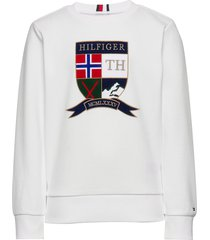 shield cn sweatshirt sweat-shirt trui wit tommy hilfiger