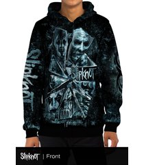 slipknot broken glass all over print zipper hoodie