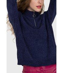 sweater io azul - calce holgado