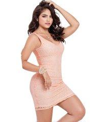 vestido corto para mujer palo de rosa mp 45163