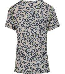 shirt met ronde hals van looxent multicolour