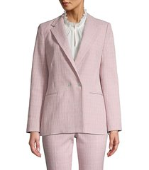 rebecca taylor women's rose plaid suit jacket - rose - size 6
