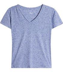 camiseta arandela manga color azul, talla 10