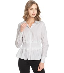 blusa only blanco - calce ajustado
