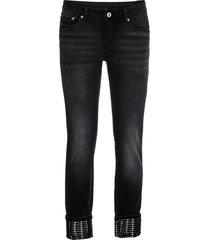 jeans con risvolto glitterato (nero) - rainbow