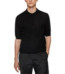 boss men's short-sleeved polo collar sweater