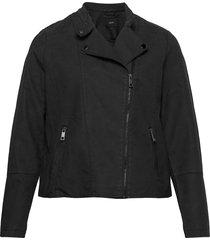 faux suede jacket plus zipper collar sommarjacka tunn jacka svart zizzi
