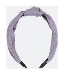 tiara larga forrada com nózinho | accessories | cinza | u